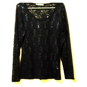 Maurices lacey and sequin top size L
